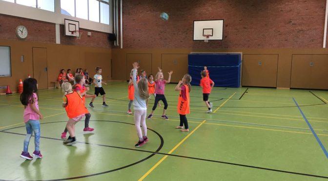 Handball Tag an der Schule Bindfeldweg
