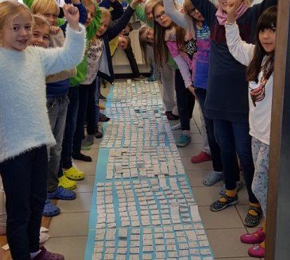 Die Klasse 4b erstellt ein Millionenbuch!